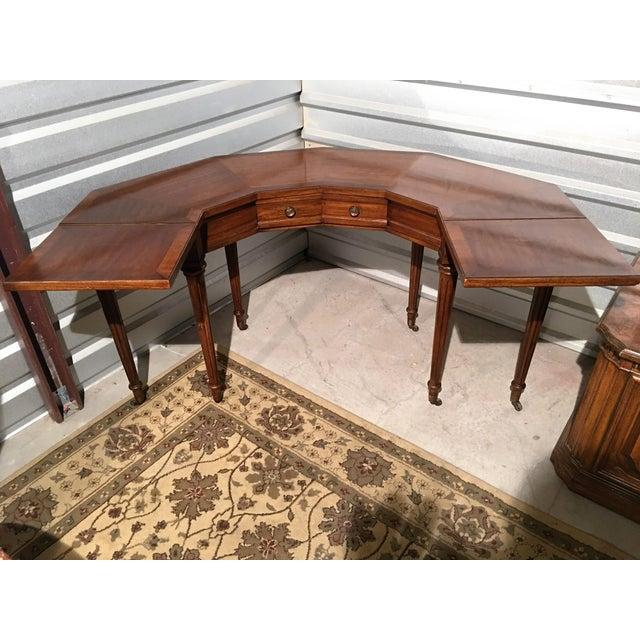 "Vintage Thomasville Drop-Leaf ""Horseshoe"" Desk - Image 5 of 10"