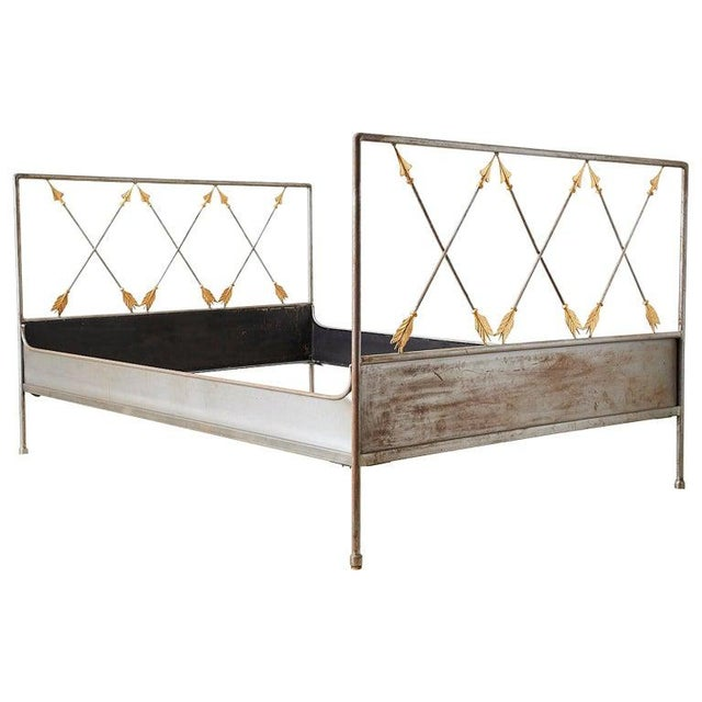French Neoclassical Maison Jansen Style Steel Daybed For Sale - Image 13 of 13