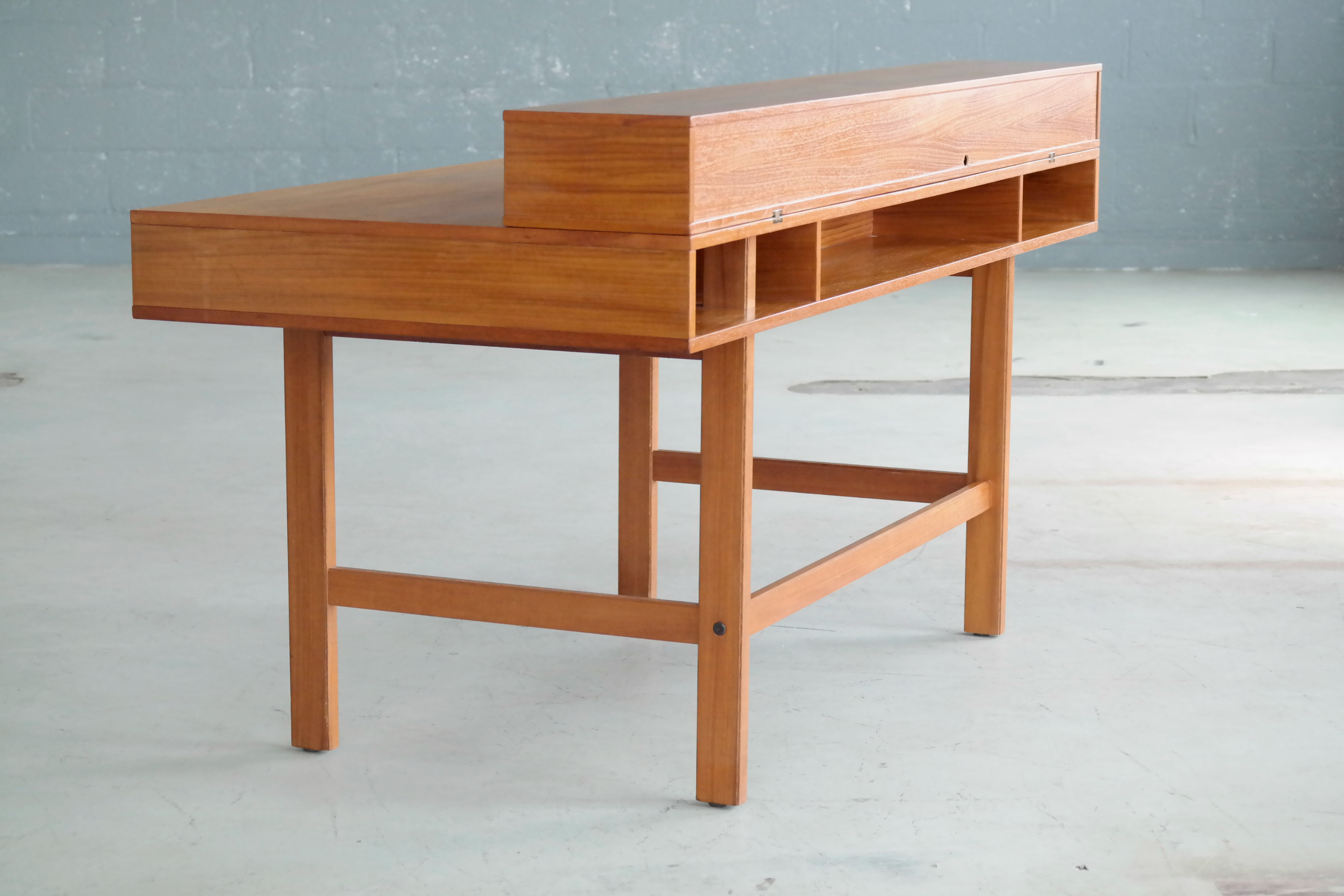 flip top desk. Peter Løvig Nielsen / Jens Quistgaard Flip-Top Desk In Teak For Dansk - Flip Top