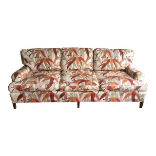 1970s Vintage Palm Motif Three Seater Couch