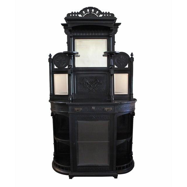 Ebonized Victorian Cabinet - Image 1 of 4