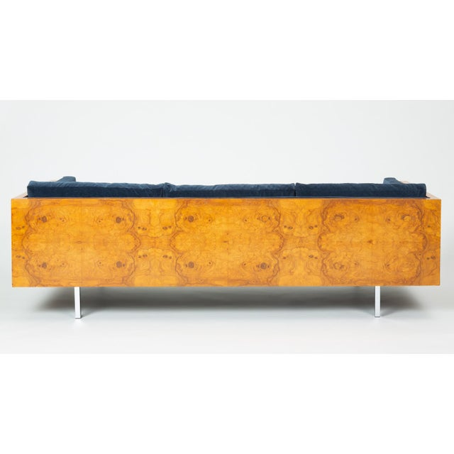 Milo Baughman Burl Wood Case Sofa for Thayer Coggin For Sale In Los Angeles - Image 6 of 13