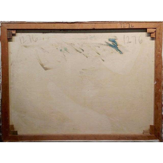 "Canvas James Arthur Merriam ""California Coastline"" Oil Painting For Sale - Image 7 of 8"