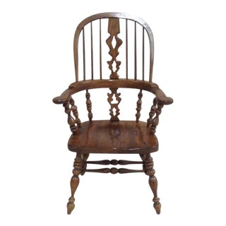 Ethan Allen Royal Charter Windsor Captain Dining Chair For Sale