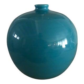 1950s Mid-Century Modern Bitossi Teal Ceramic Vase