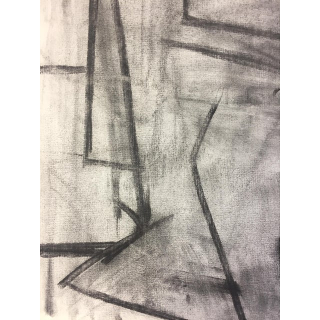 1950s 1950's Cubist Charcoal Female Nude Henry Woon Bay Area Artist For Sale - Image 5 of 8