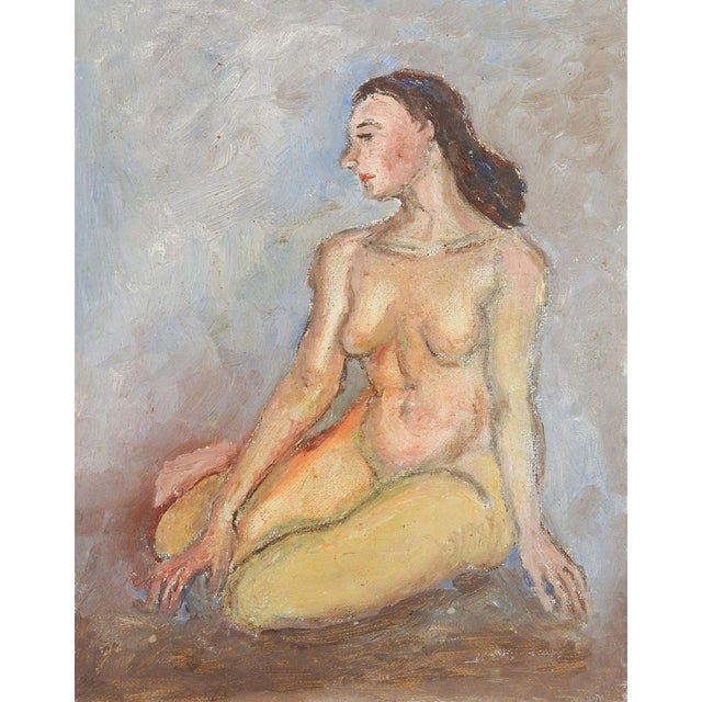 Figurative Mid-Century Modern Nude Oil Painting For Sale - Image 3 of 3