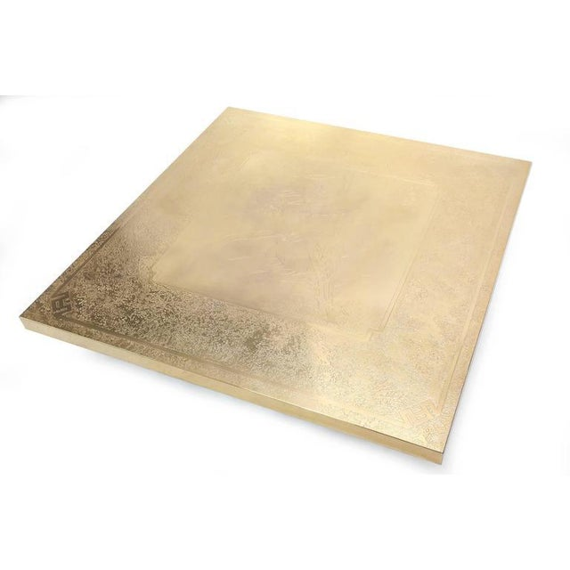 Brass George Mathias Brass Etched Coffee Table For Sale - Image 7 of 10
