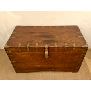 Antique Oak and Brass Trunk Preview