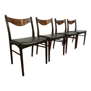 Arne Wahl Iversen Rosewood Dining Chairs - Set of 4