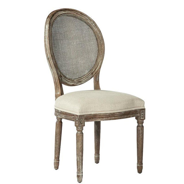 Wood French Louis XVI Style Oak Balloon Back Dining Chair For Sale - Image 7 of 7