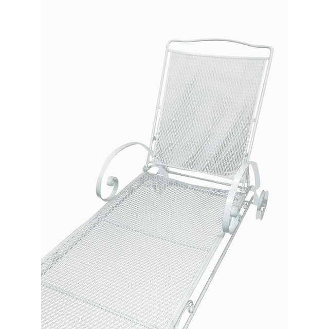Outdoor steel mesh chaise lounge by the Woodard Company. This chair can be painted in any color request at no charge....
