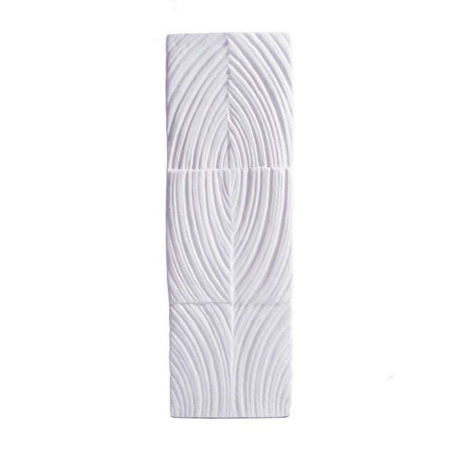 Mid-Century Modern Modernist Square White Bisque Vase by Martin Freyer For Sale - Image 3 of 5
