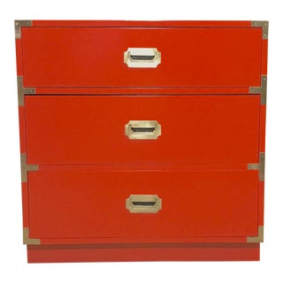 Lacquered Campaign Bachelors Chest by Dixie For Sale