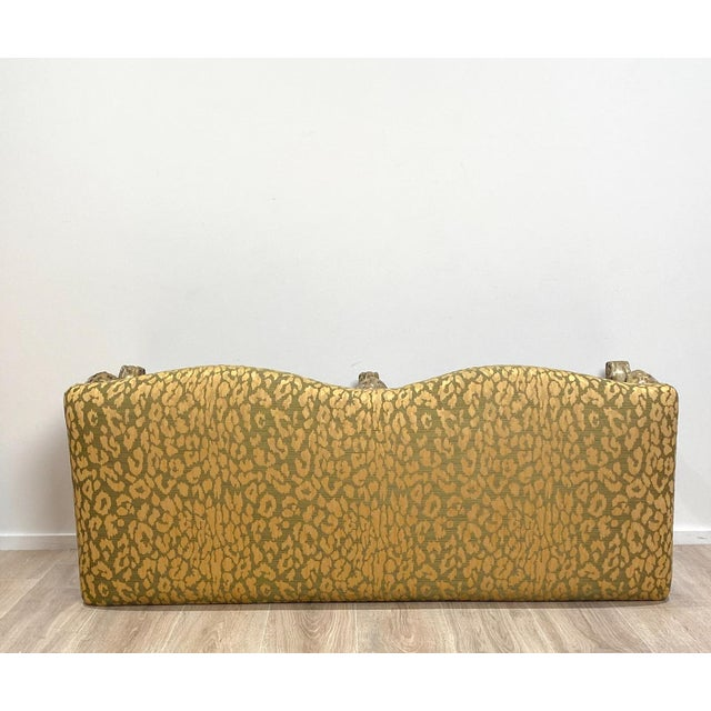 Italian Silver Gilt Bench For Sale In San Francisco - Image 6 of 7