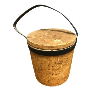 Cork & Leather Ice Bucket For Sale