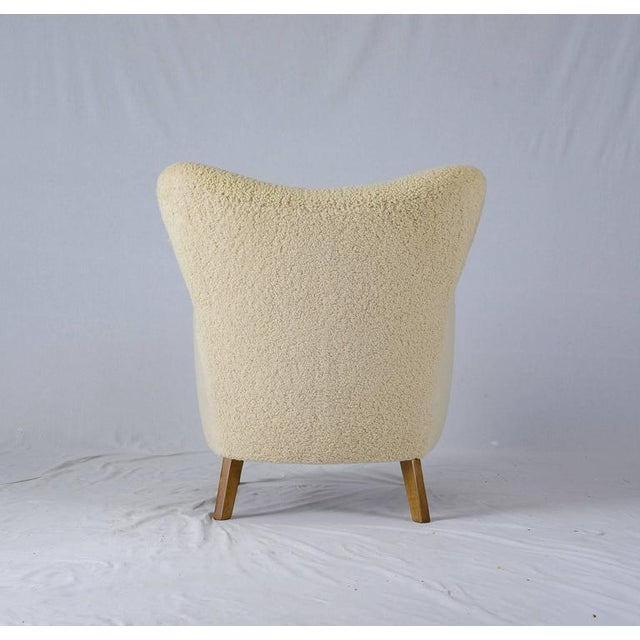 Scandinavian Sheepskin Lounge Chair - Image 8 of 10