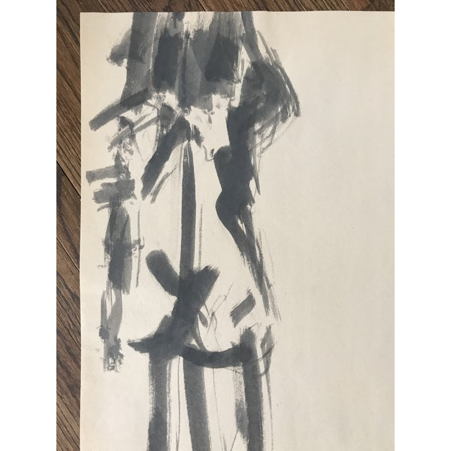 Beautiful nude watercolor of woman's backside. Signed - Joe Marfoglia. Paper has fold in one corner and minor rip...