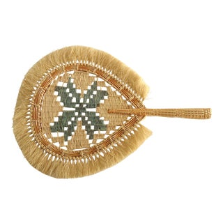 Decorative Grass Hand Fan For Sale