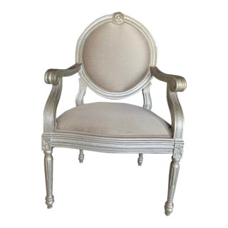 Silver Frame Italmond Arm Chair For Sale