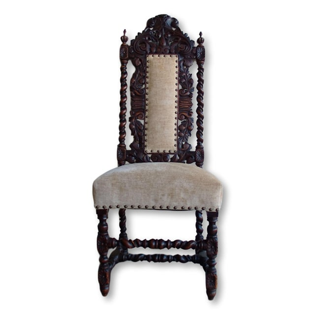 Antique Anglo-Indian Rococo Style Carved Chairs - A Pair - Image 3 of 11
