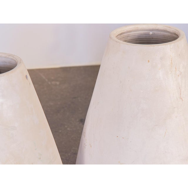 1960s Mid-Century White Teardrop Planters- A Pair For Sale - Image 5 of 7