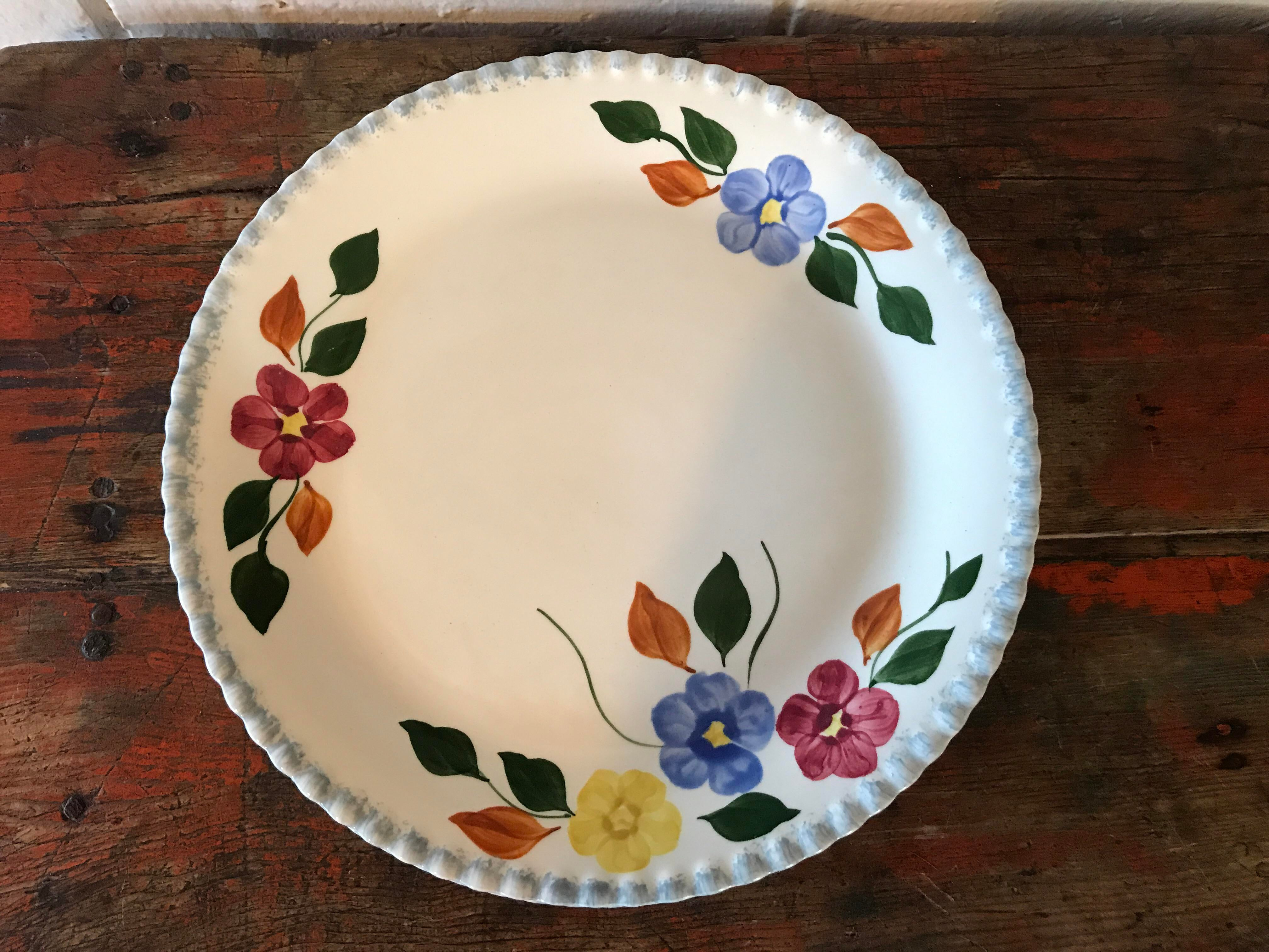 Vintage Hand Painted Dinner Plates - Set of 4 - Image 3 of 8  sc 1 st  Chairish & Vintage Hand Painted Dinner Plates - Set of 4 | Chairish