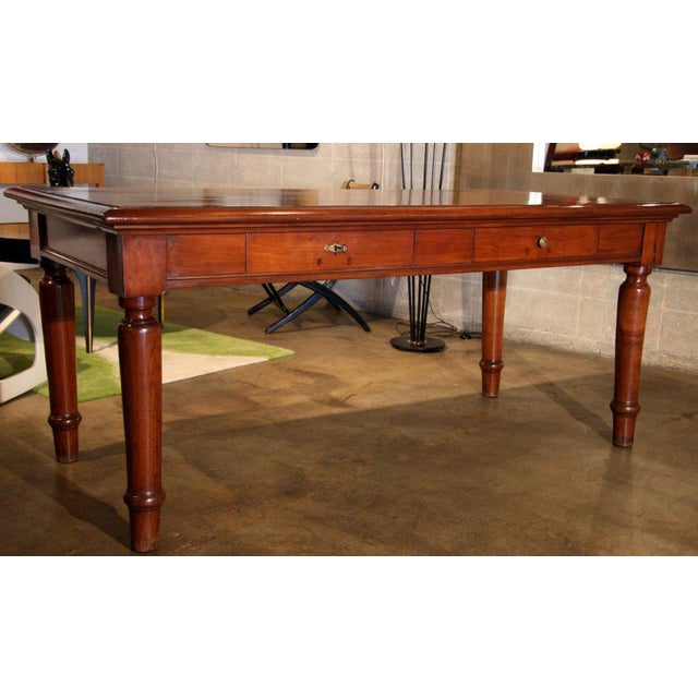 Lovely cherry two drawer desk just waiting for your kitchen or office.
