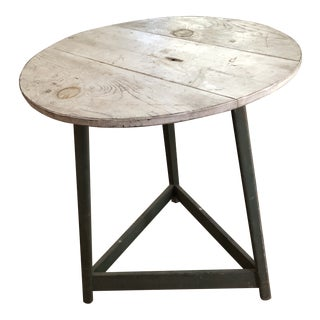 1990s Shabby Chic Painted Round Bistro/Side Table For Sale