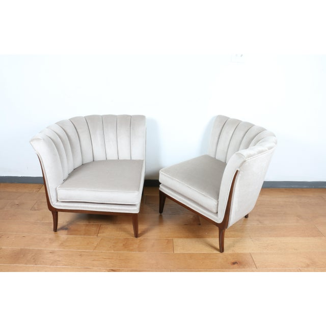 Hollywood Regency Mohair Hollywood Regency Pair of Chairs For Sale - Image 3 of 13