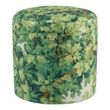 Image of Drum Ottoman In Verdure Bois De Chene By Old World Weavers For Sale