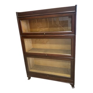 Antique Mahogany Lawyer's Barrister Bookcase For Sale
