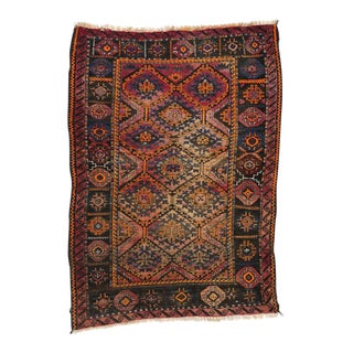 Antique Persian Shiraz Rug with Modern Style