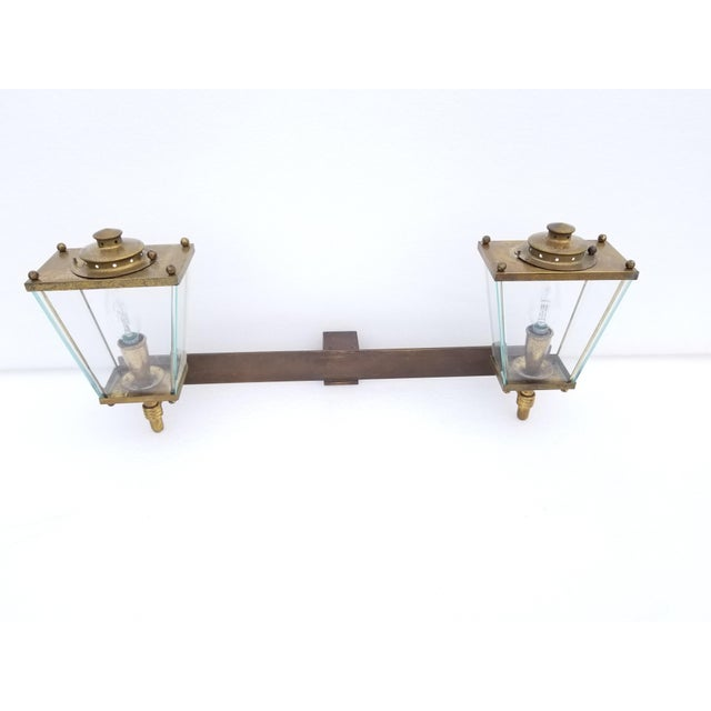 Bronze Large French Bronze 2 Lights Sconce Circa 1950's For Sale - Image 8 of 9