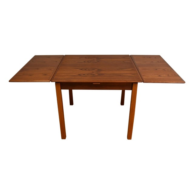 Mid-Century Danish Teak Draw Leaf Dining Table For Sale