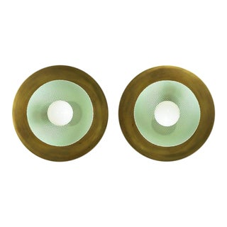 """""""Centric"""" Wall Sconces - a Pair For Sale"""