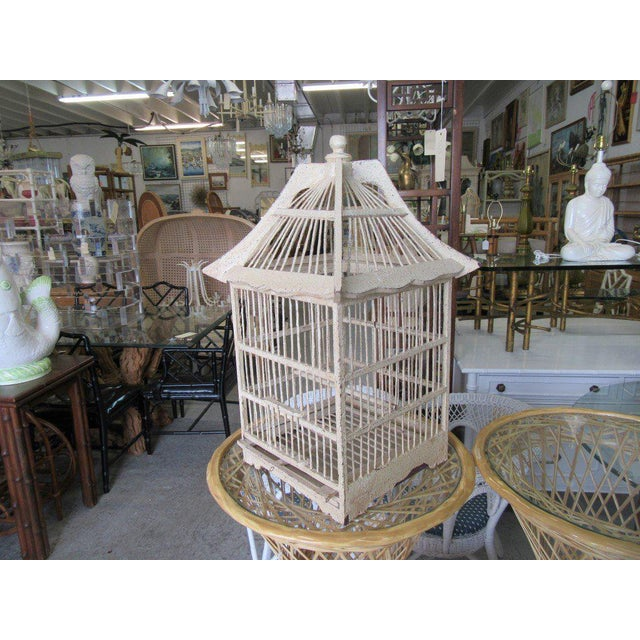 Vintage Painted Bird Cage - Image 7 of 7