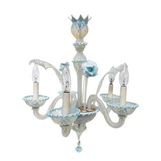 Venetian Style Murano Handblown Art Glass Chandelier