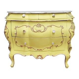 Early 20th Century Italian Victorian Gilt Commode For Sale