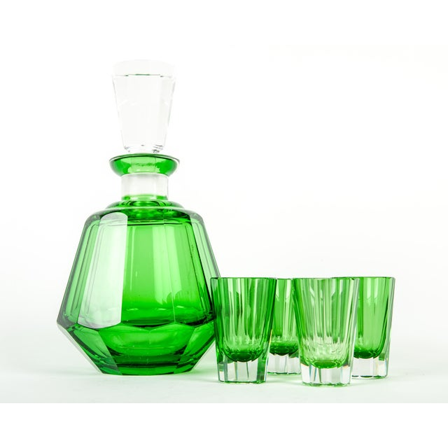 Daum Early 20th Century Daum Cut Crystal Liqueur Set - Set of 7 For Sale - Image 4 of 5