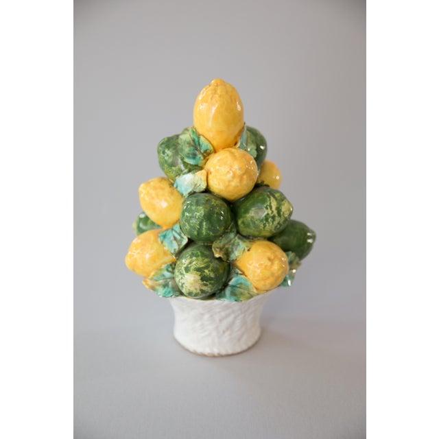 Vintage Italian Majolica Lemon & Lime Topiary For Sale In Houston - Image 6 of 8