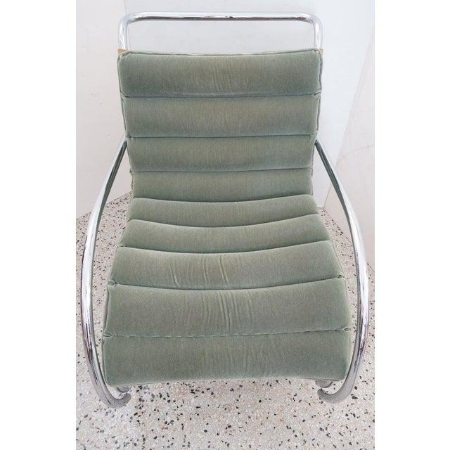 Metal Vintage Art Deco Mies Van Der Rohe Lounge Chair by Gordon International For Sale - Image 7 of 13