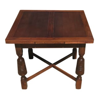 Early 20th Century Vintage Draw Leaf Dining Table For Sale