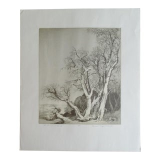 "Mildred Bryant Brooks ""The Promise of Spring"" Etching For Sale"
