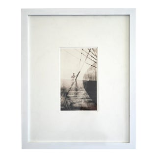 Contemporary Platinum Print Created from a 1894 Double Exposure Photograph, Framed For Sale