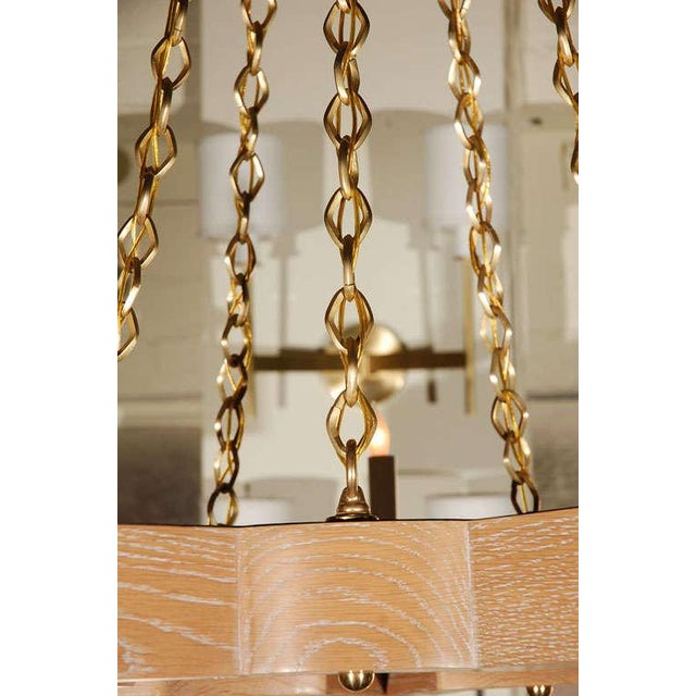 Paul Marra Star Chandelier in Oak For Sale In Los Angeles - Image 6 of 10
