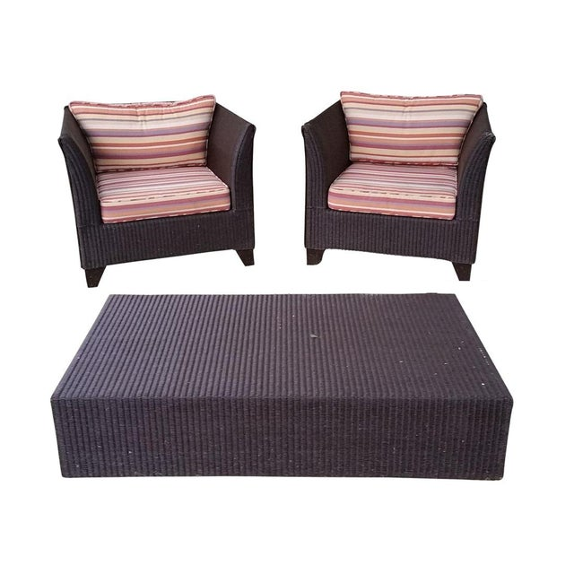 Gondola Chairs & Coffee Table - Set of 3 - Image 1 of 5