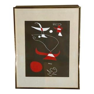Abstract Miro Signed and Numbered Serigraph For Sale
