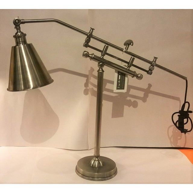 Metal Architectural Lamps - Pair - Image 3 of 3