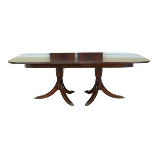 Jonathan Charles Flame Mahogany Duncan Phyfe Dining Table For Sale
